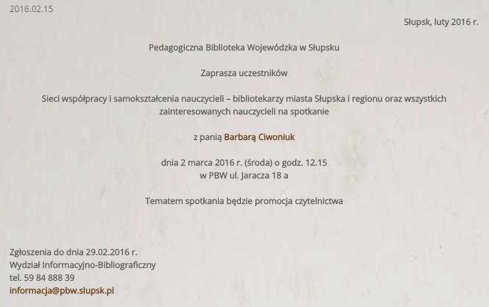 Spotkanie Słupsk