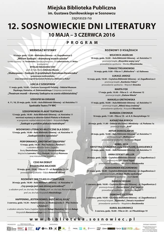 Sosnowieckie Dni program