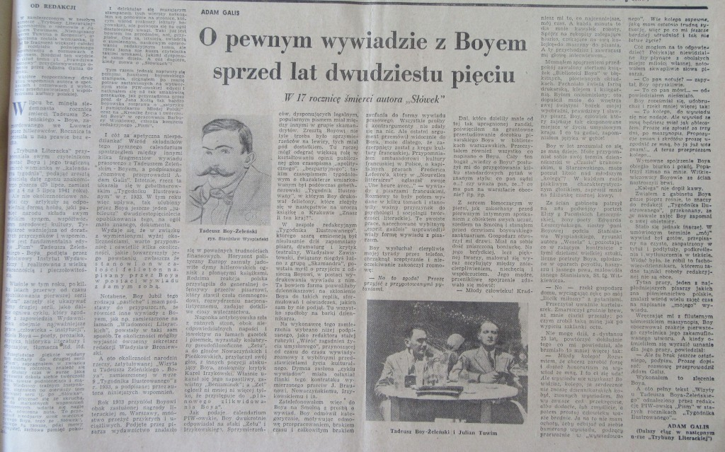 Trybuna Literacka Nr 32 z 1958 r.