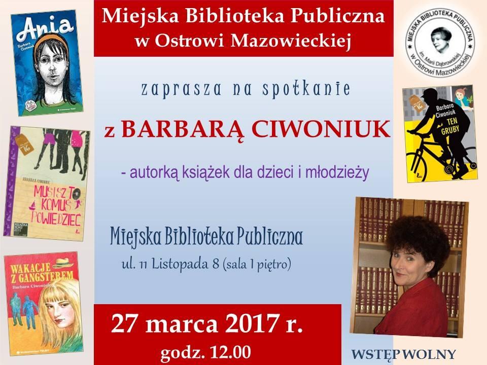 Biblioteka w Ostrowi Mazowieckiej plakat