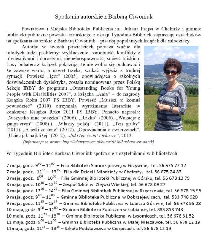 Tydzień Bibliotek w Chełmży